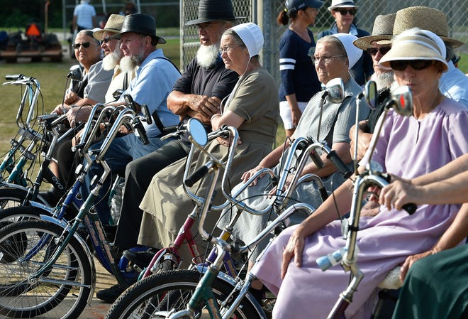 Hundreds of people turned out Feb. 24 to watch the Amish All Stars compete against the Sarasota Senior Softball League.