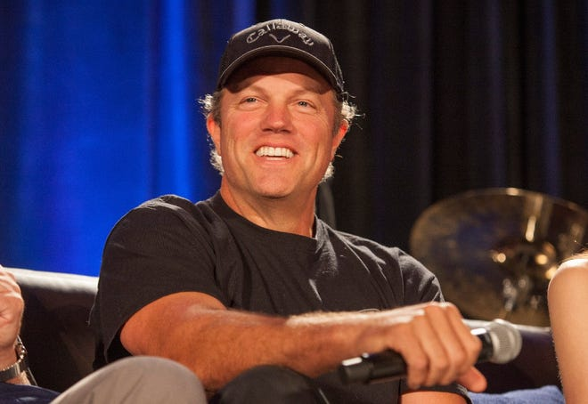 Adam Baldwin appears during the Inside Firefly panel at the Wizard World Chicago Comic-Con on Saturday, Aug. 22, 2015, in Chicago. Baldwin, 59, was born on Feb. 27, 1962, in Winnetka, Illinois.