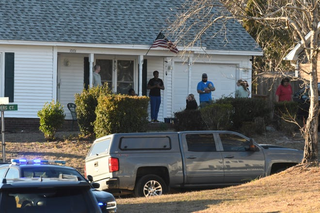 Members of the New Hanover County Sheriff's Department were on the scene along Barnards Landing Wednesday Feb. 24, 2021, as The North Carolina State Bureau of Investigation was investigating the shooting that occurred at approximately 12:45 p.m. Wednesday.