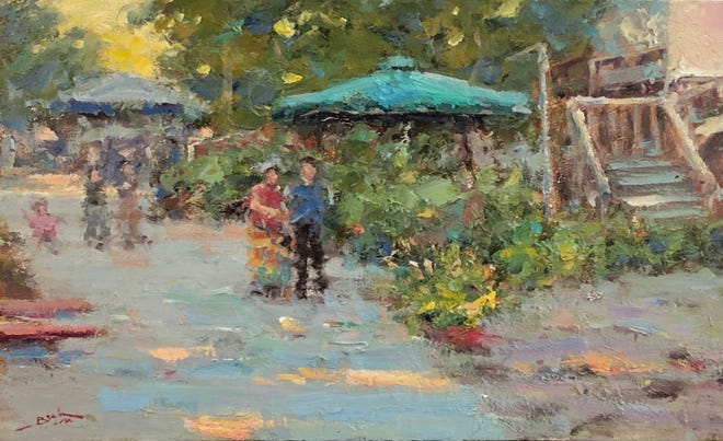 """Award-winning Contemporary Impressionist Dan Beck will be the featured guest artist at The Village Gallery in Oriental on March 6. His paintings were selected for the covers of November 2008 """"Southwest Art"""" and September 2011 """"Art of the West"""". His work is in the permanent collection of the Littleton Historical Museum and he has exhibited with the Phippen Museum, Prescott, Ariz. An opening reception will be held from 2-5 p.m. March 6, at The Village Gallery, 300 Hodges Street, in Oriental.  [CONTRIBUTED PHOTO]"""
