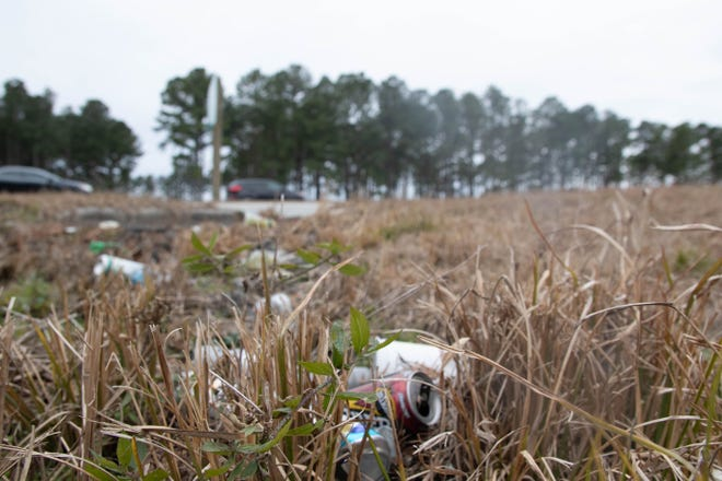 Litter is a growing problem in Craven County. Here trash fills a shallow drainage ditch on US 70.