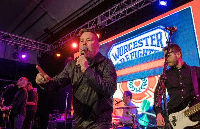 The Dropkick Murphys perform at the Worcester Beer Garden Nov. 22, 2019, in a benefit for the family of Worcester Fire Lt. Jason Menard.