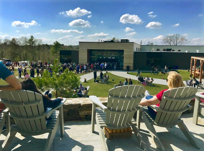 The patio view of Tree House Brewing in Charlton. [T&G File Photo/Christine Peterson]