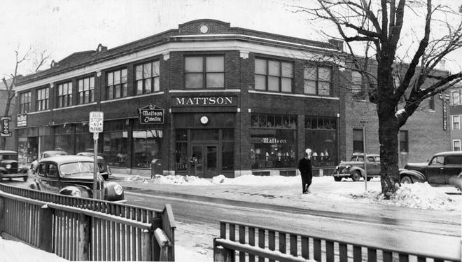 This photo of Mattson Furniture was tken in January 1947. The store had a display that gave customers the feel of being in a house, walking from room to room.,
