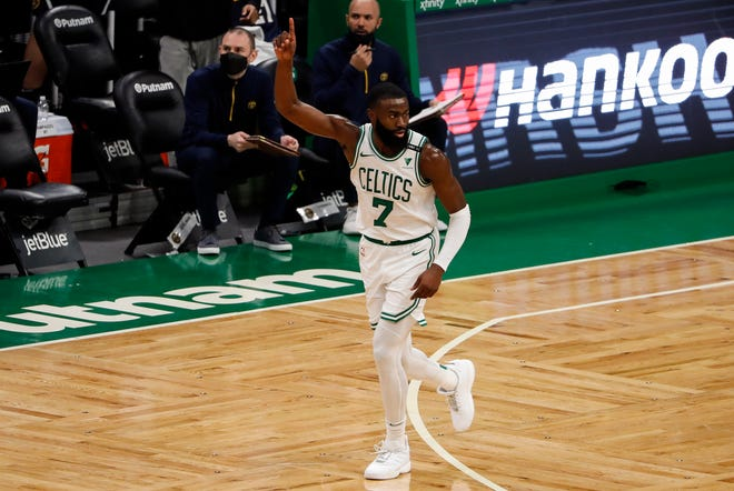 Celtics guard Jaylen Brown has been named to play in the NBA All-Star Game for the first time.