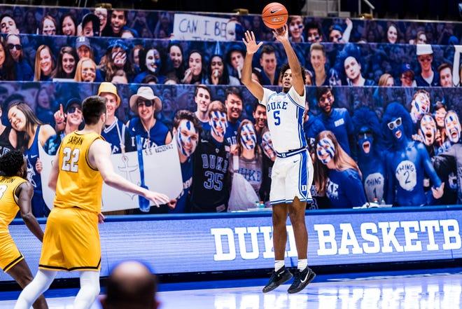 Duke Men's Basketball takes on the Coppin State University Eagles in Cameron Indoor Stadium in Durham, NC. November 28, 2020 - Reagan Lunn / Duke Athletics