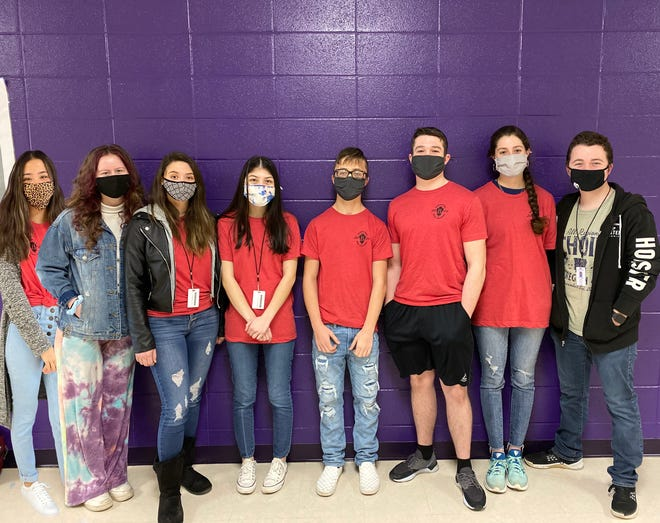 Lavaca High School Beta Members qualified for the National Beta Convention to be held in Orlando this summer. Pictured left to right: Myia Bunda, Lydia Harrison, Haley Moore, Neiah Denney, Elijah Palmer, Eli Smithson, Haldei Cates and Tyler Teague.