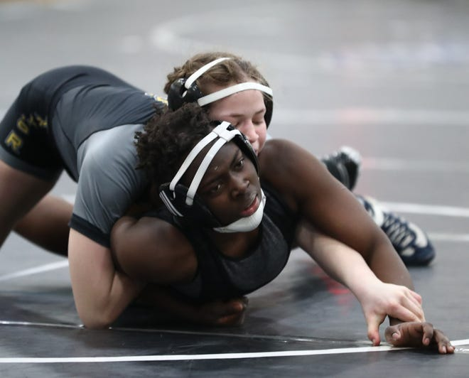 DeSales' Rebekah Oladokun finished fourth at 137 pounds in the girls state wrestling tournament Feb. 21 at Hilliard Davidson. A week earlier, Oladokun won her weight class at the district tournament at Olentangy Orange.