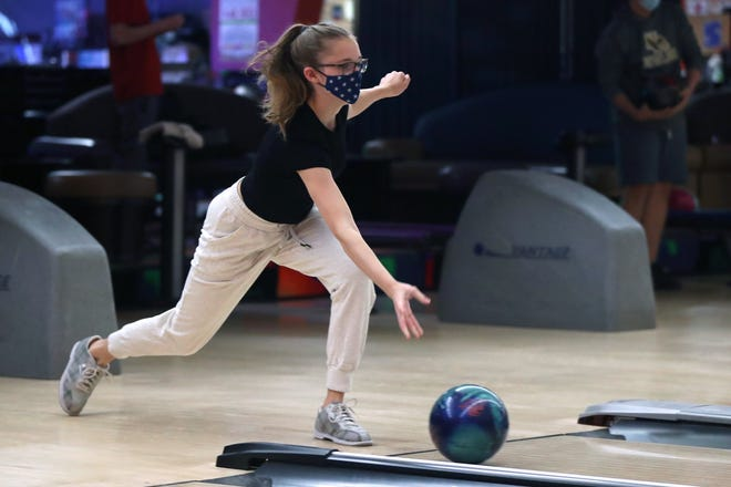 Sophomore Taryn Jolly is among the key bowlers expected to return next season for the New Albany girls team. The boys squad saw its season end Feb. 22 in the Division I district tournament.