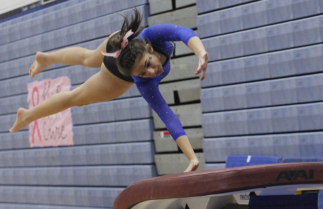 Sophie Seculov and Kilbourne competed in the district meet Feb. 27 at home after earning a share of the OCC-Capital Division title by winning the league meet Feb. 20 at Thomas.