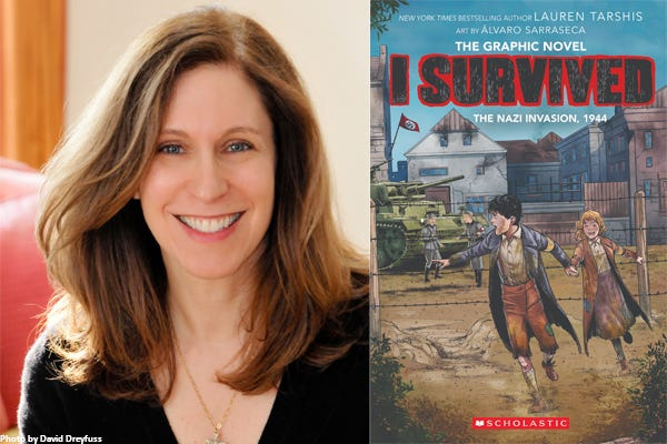 """Lauren Tarshis, author of the popular """"I Survived"""" book series, will be in conversation with """"Diary of a Wimpy Kid"""" author Jeff Kinney, of Plainville, live on Crowdcast on Tuesday, March 2 at 7 p.m."""