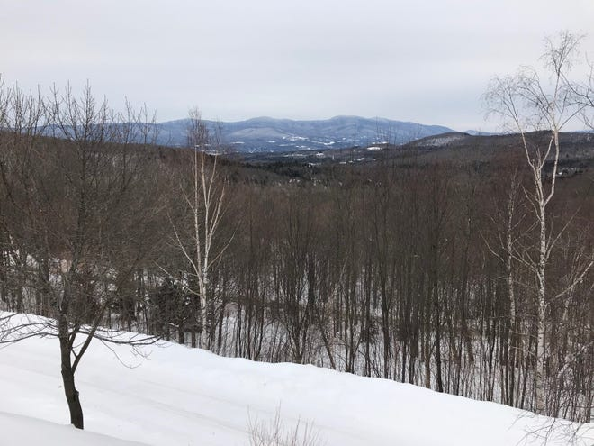 The spectactular view from Mike Krancer's house at the top of Bull Moose Ridge Road in Stowe, as seen on Feb. 18, 2021.