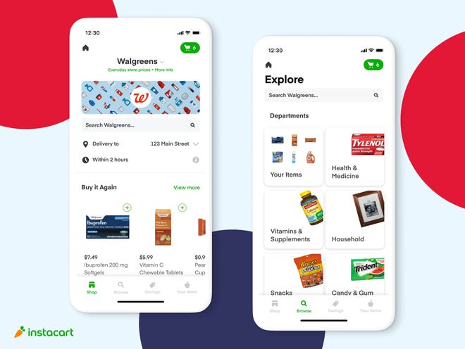 Walgreens announced a partnership with Instacart to offer same-day delivery
