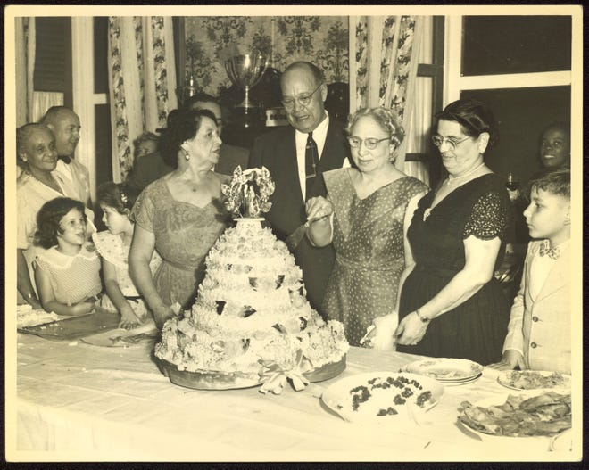 Birthday celebration for Archie Alexander, mathematician, civil engineer and governor of the U.S. Virgin Islands 1954-1955.