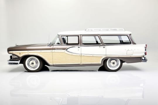 This 1958 Edsel Bermuda was modified in 2016 by Roush from a steering column-shifted manual transmission to an automatic transmission that used the same steering column configuration.