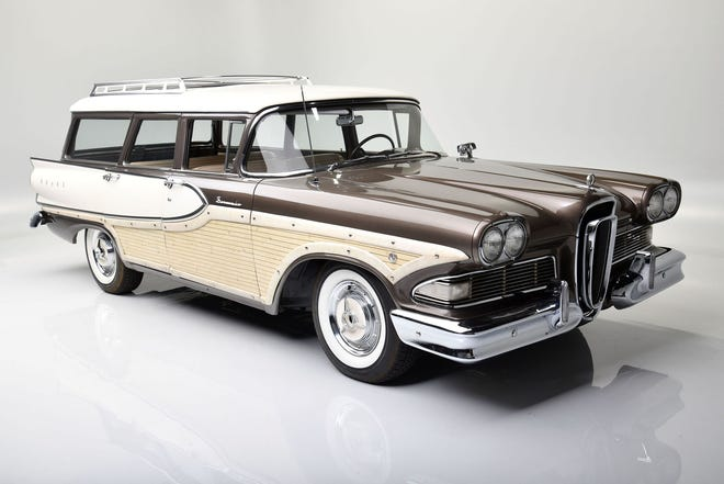 Ford Family S 1958 Bermuda Wagon 1947 Ford Woody Up For Auction