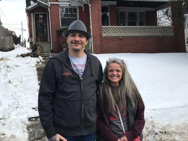 Jason Knasinski will work to make physical improvements to the new women's warming house for women who are homeless at 125 Blymyer Ave. Angie Henke, founder of Reaching Out Ministries, also runs a men's warming center for men who are homeless at 356 Harker St.