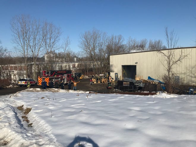 Mansfield firefighters investigated a fire in an outside wall Wednesday at Edge Plastics, 449 Newman St.