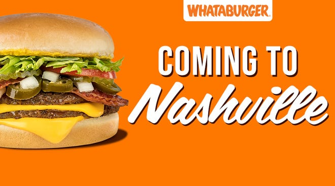 Whataburger plans to open a restaurant in Hermitage in fall 2021. It is the chain's first Nashville-area restaurant since the 1970's.