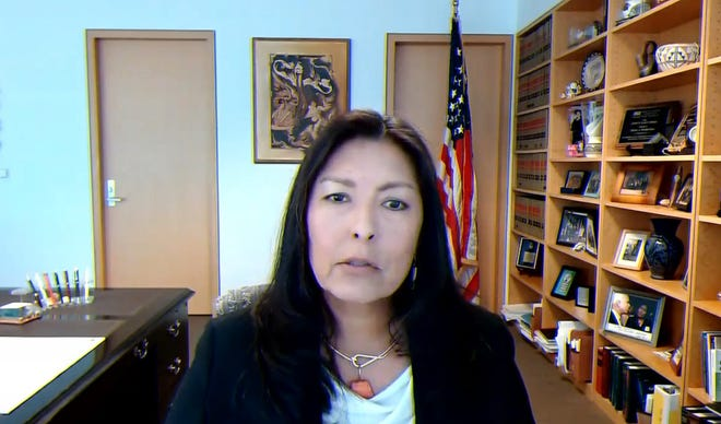 On Feb. 24, 2021, U.S. District Judge Diane Humetewa testifies to a subcommittee of the House Judiciary Committee considering the need for a sweeping expansion of federal judgeships for the first time since 1990.