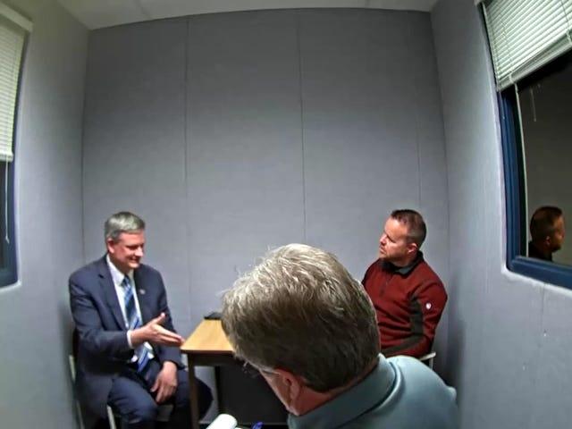 The North Dakota Bureau of Criminal Investigation interviews South Dakota Attorney General Jason Ravnsborg on September 30 about a crash that killed Joe Boever.