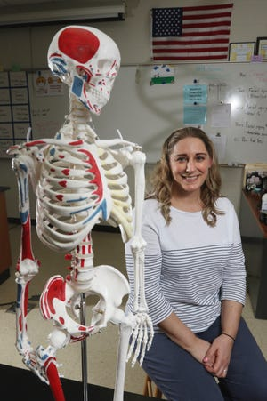 Miranda Ketcham teaches science at West Muskingum High School.  She has been able to keep the hands-on activities she knows students love safe during the pandemic.
