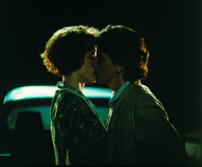 """Blane (Andrew McCarthy) and Andie (Molly Ringwald) found each together in the end forever in """"Pretty in Pink."""""""
