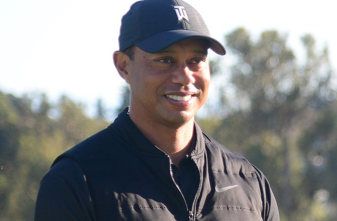 Tiger Woods during the final round of The Genesis Invitational.