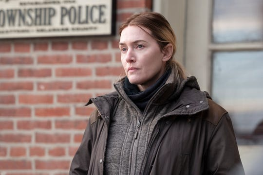"Kate Winslet as Mare Sheehan in ""Mare of Easttown."""