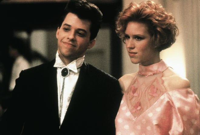 """Duckie (John Cryer) and Andie (Molly Ringwald) were not fated to end up together in """"Pretty in Pink."""" The movie is re-released on Blu-ray in the """"John Hughes 5-Movie Collection."""""""