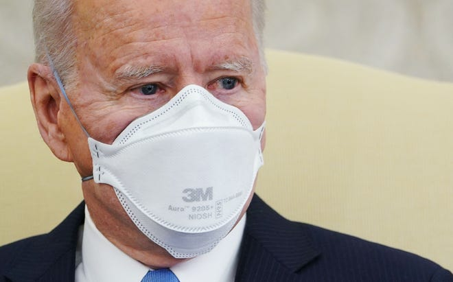President Joe Biden meets Feb. 12 with governors and mayor to discuss his COVID-19 relief plan.