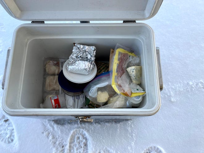 During the power outage in February, we stored our food in a cooler outside, where much of the food froze, but at least it stayed edible.