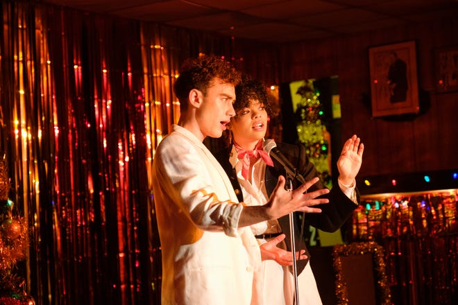 """Olly Alexander as Ritchie Tozer and Lydia West as Jill Baxter in HBO Max's """"It's a Sin."""""""