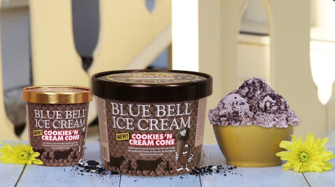 Blue Bell's newest flavor is Cookies 'n Cream Cone, and it hits stores on Thursday.