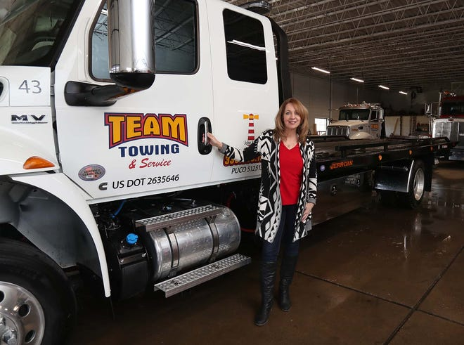 """We have accidents that happen right down the street in our ward and we can't service them through APD [the Akron Police Department],"" says Carol Coleman-Crane, owner of Team Towing in Akron."