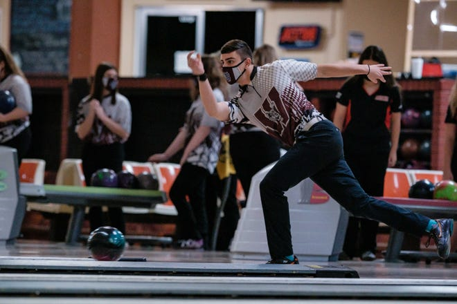 Woodridge senior bowler Angelo Biondo releases the ball during a competition this season.