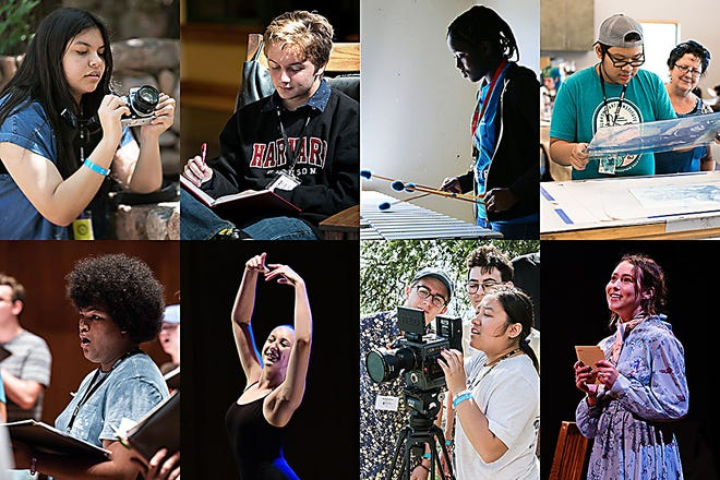 At Oklahoma Summer Arts Institute, high school artists intensively study of one of eight artistic disciplines: acting, chorus, creative writing, dance, drawing & painting, film & video, orchestra or photography.