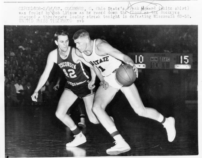 Before Frank Howard (11) made his name as a power hitter in baseball, he was a fine power forward on Ohio State basketball teams in the late 1950s, averaging 17.4 points and 13.9 rebounds in three seasons as a starter.