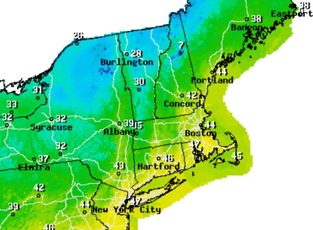 High temps will reach into the 40s, but it will be pretty windy on Thursday.