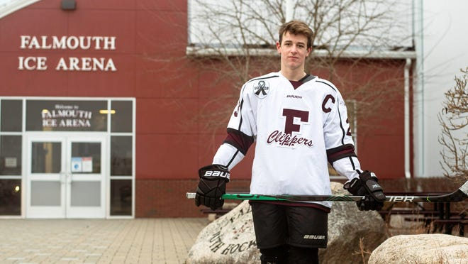 Falmouth's Stone Devlin has been named Most Valuable Player for the Cape & Islands League Atlantic division in boys ice hockey.