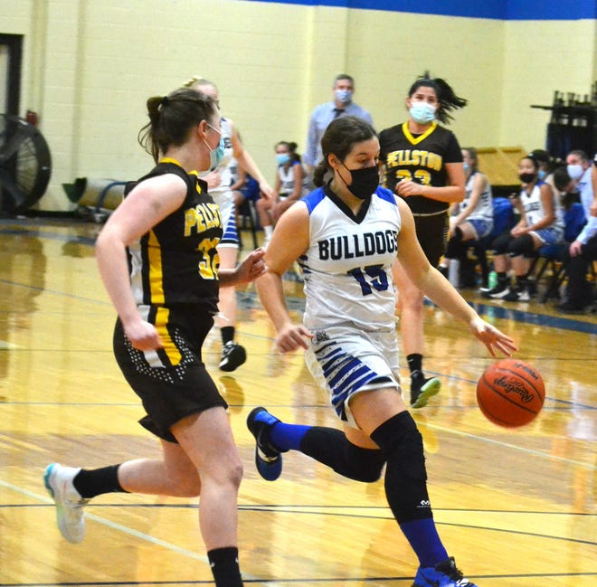 Inland Lakes sophomore Natalie Wandrie scored 21 points for the Lady Bulldogs in a loss at Bellaire on Wednesday.