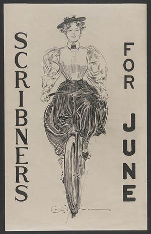Charles Dana GibsonÕs iconic drawings were featured on magazine covers such as Scribeners in the 1890s. The American Gibson Girl moved women out of the pale, frail Victorian stereotype of beauty.