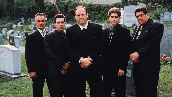 Talking Sopranos is a podcast launched in April 2020 featuring co-hosts and cast members Michael Imperioli, second from right, and Steve Schrippa, not pictured.