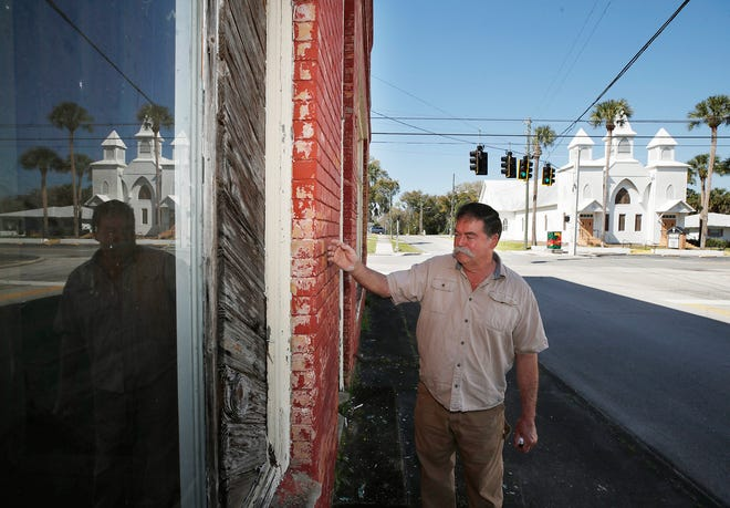 Restoration expert Mark Shuttleworth talks about the J.W. Wright Building in DeLand. The building is located on West Voorhis Avenue, an area that could receive funds for a streetscape makeover.