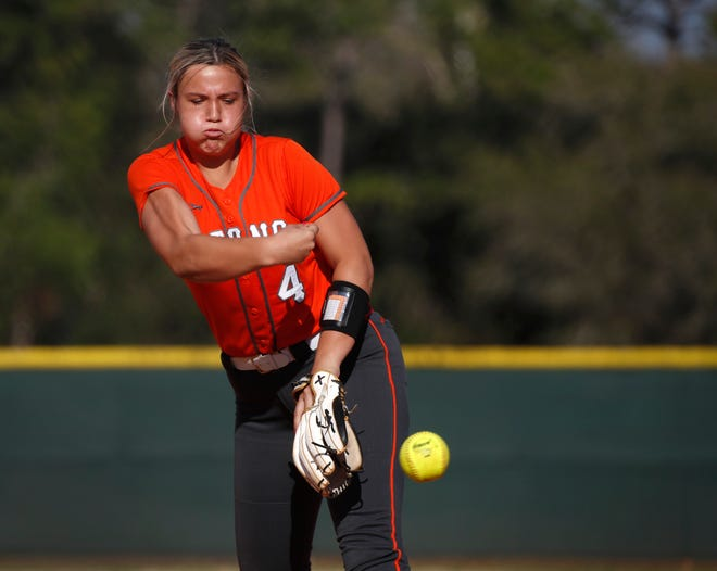 Grace Taylor is being counted on to anchor the University High softball team's pitching staff.