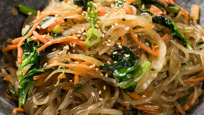 This is a contributed photo of a noodle dish from the New York restaurant Noodlelove.