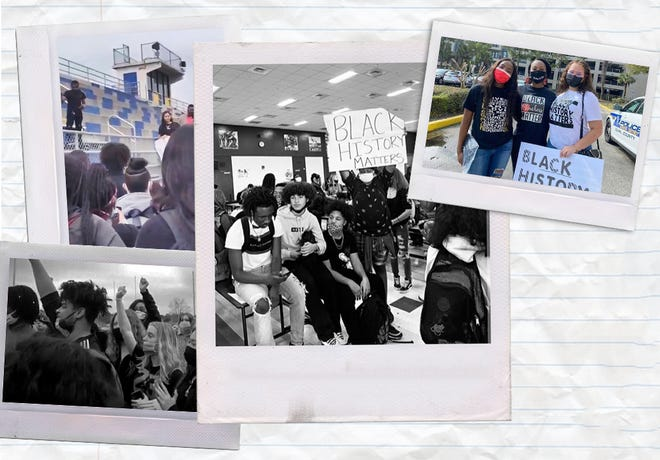 Students across Duval County staged protests in February calling for more Black history curriculum