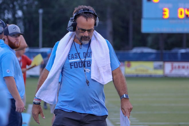 Coach Battle Holley's East Duplin football team will kick of its season Saturday at Princeton. [Tina Brooks / The Daily News]