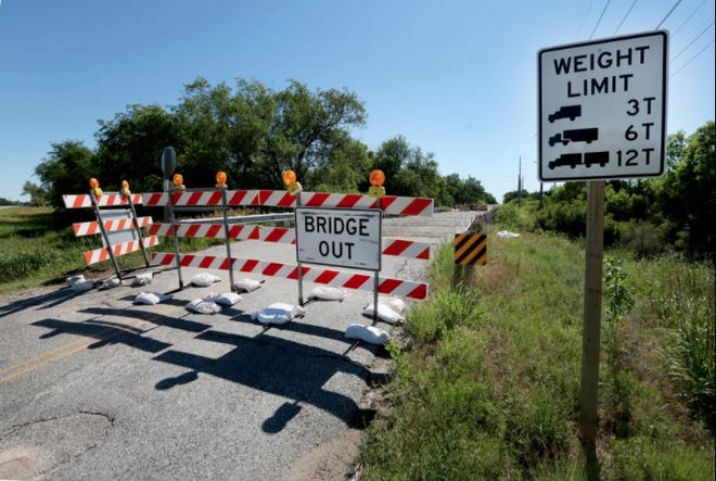 New state requirements for signing load limits on bridges could cost Butler County a significant amount of money — and has already cost extra funds for KDOT engineering. [GANNETT FILE]