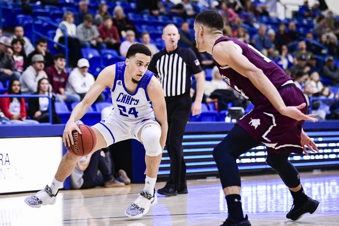 LCU forward Lloyd Daniels (24) and the 10th-ranked Chaparrals battle No. 5 West Texas A&M on Tuesday in the South Central Regional final of the Division II NCAA Tournament. The winner advances to the Elite Eight in Evansville, Indiana.